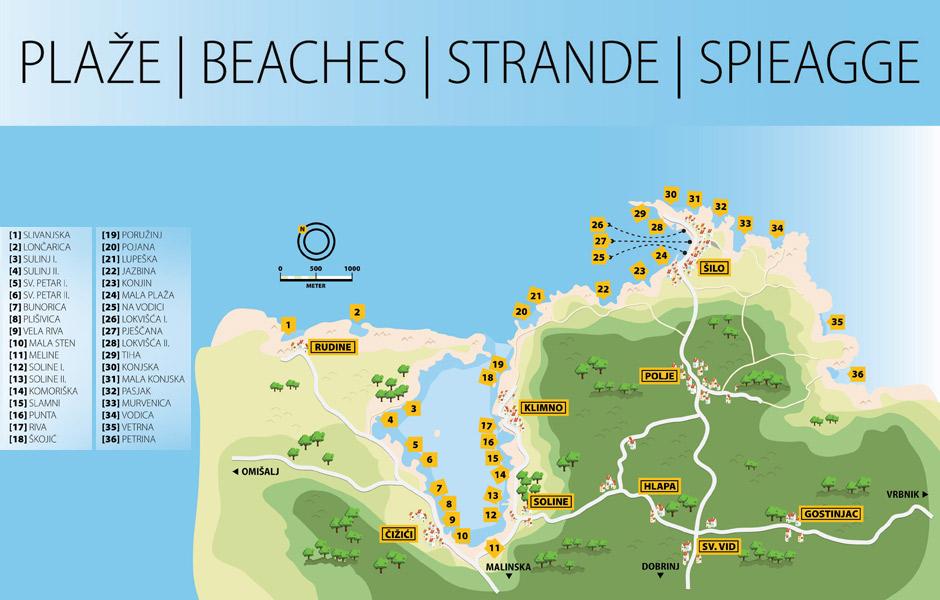 Karta plaža